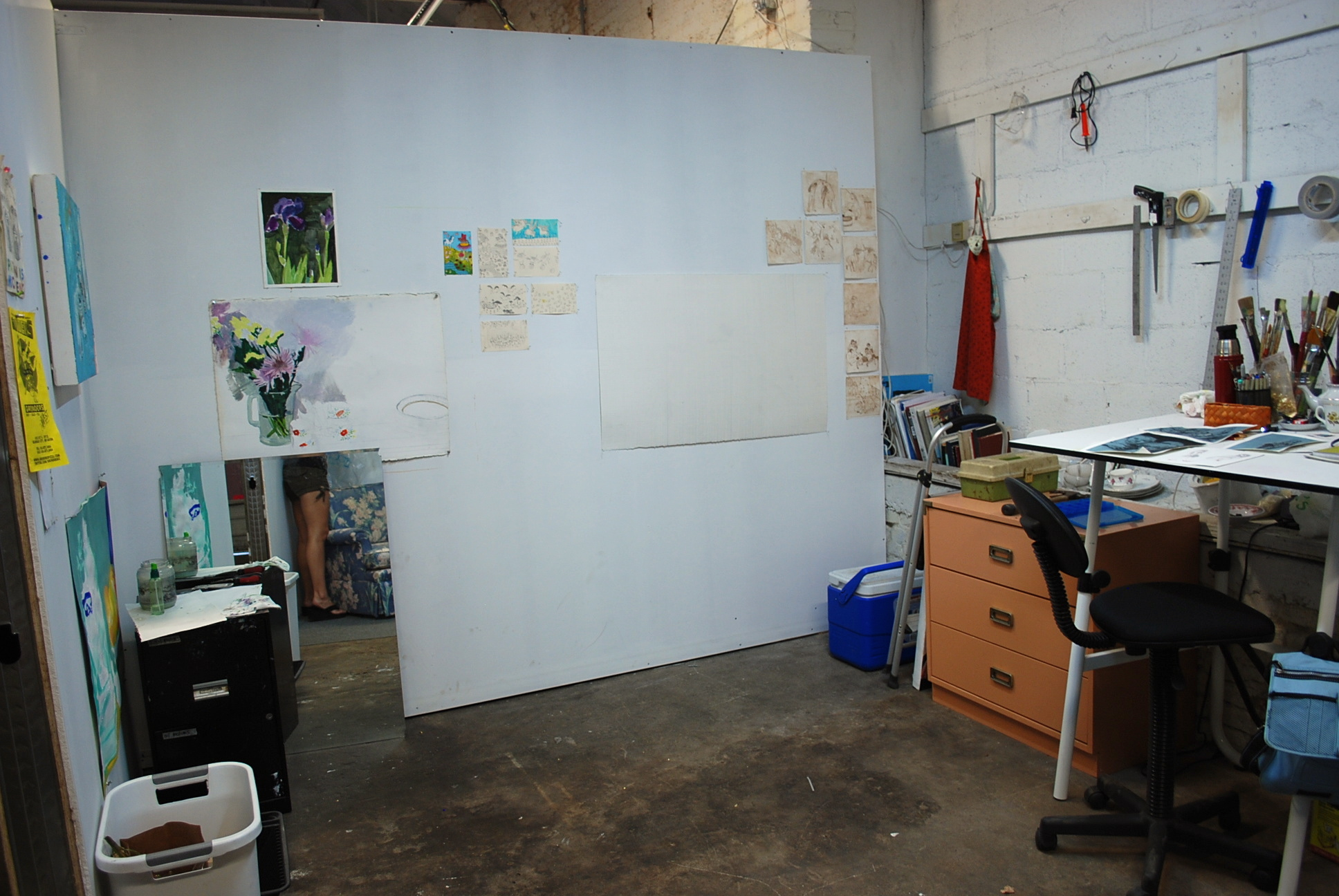 looking for a studio space caranne camarena painting 12 opens