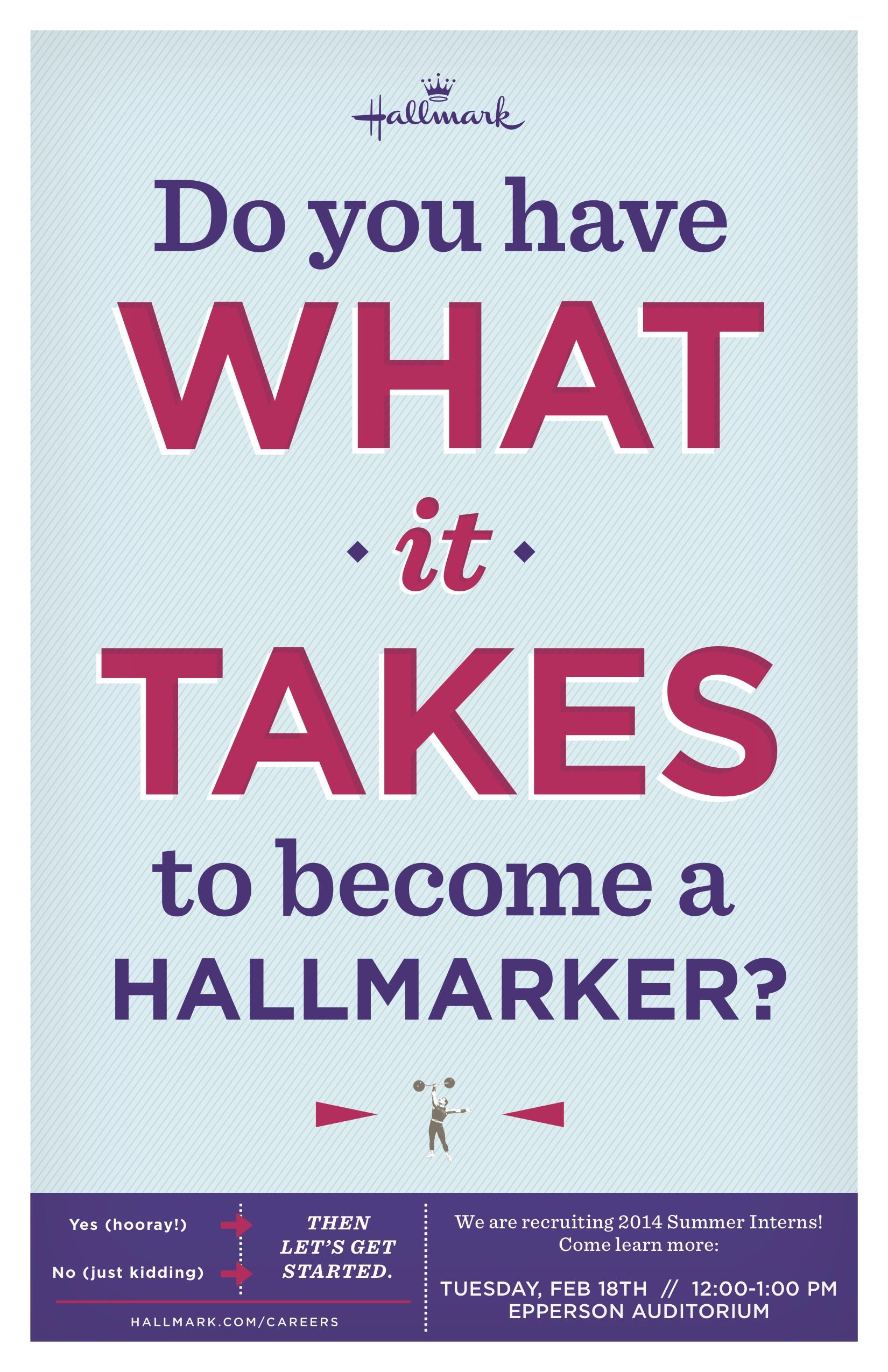 Student Opportunity Deadline: Hallmark Recruiters on Campus